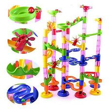 Hot 105Pcs DIY Construction Marble Race Run Kids Toy Game Building Block Tower