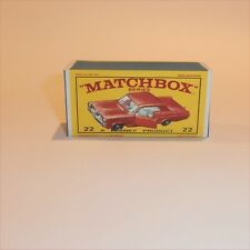 Matchbox Lesney 22 c2 Pontiac Grand Prix Sports Coupe empty Repro E style Box
