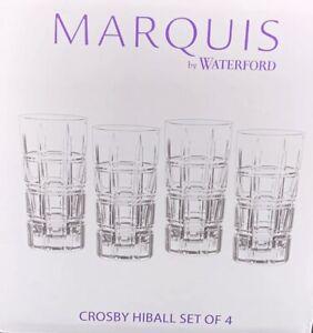 4 NIB - Marquis by Waterford Crosby Hiball Crystal Glasses