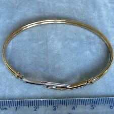 9ct White Gold Diamond Bangle