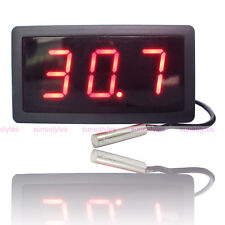 Large LCD Digital Thermometer Temperature Auto Car Meter Gauge With Probe DC 12V