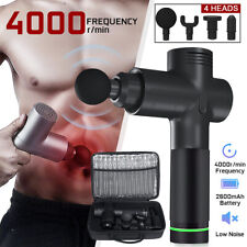 Lcd Muscle Massage Gun Booster Massager Theragun Percussion Vibrating Relaxing