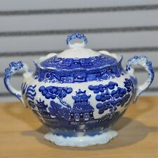 Allerton Ltd willow Blue and white dish with lid