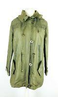 Per Una M&S Stormwear Ladies Olive Green Hooded Coat Jacket Size UK 12
