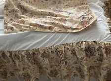 Chaps Marrakesh Paisley Tan Multicolored Bed Skirt And 2 Pillow Shams Queen