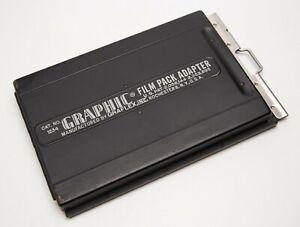Graphic 4x5 Film Pack Adapter Holder 1234 Graflex Speed Crown Pacemaker