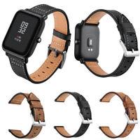 Genuine Leather Watchband Wrist Straps for Xiaomi Huami Amazfit Bip Youth Watch