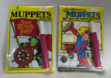 2 Vtg Muppets Magic Pen Painting Books Muppet Treasure Island Kermit the Frog