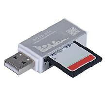 Silver High Speed HOT1B 2.0 All In 1 Multi SD TF CF MS Memory Card Reader HOT1