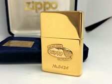 Rare! New ZIPPO 1989 Limited Edition K18 Gold Front Badge Gold-Plated Lighter