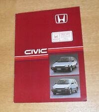 Honda Civic Shuttle Brochure 1985 - 1.5 & 4WD