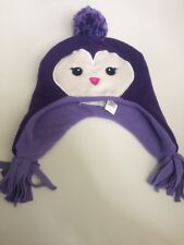 Girl's Children's Place Winter Purple Owl Hat Size 6-12 Months NWT