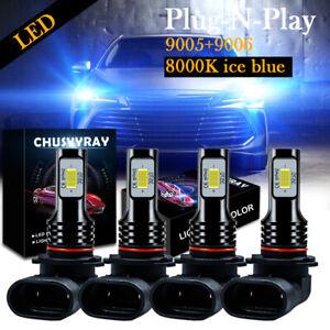 Fits 1990-93 Chevrolet C1500 C2500 K1500 K2500 8000K LED Headlight Light Fog Kit