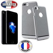 Coque Arrière Protection Gris Argent Perforée Nid d'Abeille pour Apple iPhone 7