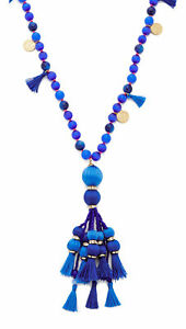 Kate Spade New York Women's Pretty Poms Tassel Pendant Necklace - Blue Multi