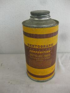 NOS Vintage HEKTOGRAPH Refilling COMPOSITION for Duplicators UNOPENED  Cardboard