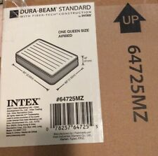 NIB INTEX DURA BEAM FIBER-TECH STANDARD Queen Size SELF Inflatable Airbed Green