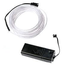 weiss flexible Draht EL Neon-Licht 5M Tanzparty Dekor + Steuerung GY