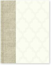 C.R. Gibson White & Linen Wedding Planner Book, 112 Pages, 8.25'' x 10.5'' Ikat