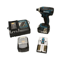 Makita LXDT04X1 18V Cordless LXT Lithium-Ion Impact Driver Kit with Gold Bit Set