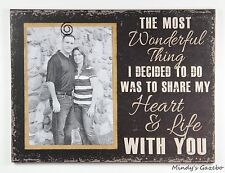 Black love Picture Frame SHARE MY HEART & LIFE handmade wedding photo gift