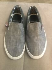Boys Ben Sherman Shoes Sneakers Size 1 Youth Gray White Worn Once