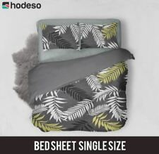 Hodeso Bedsheet Ornamental Plants Single Size With FREE Pillow Case