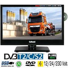 Gelhard GTV-1662 LED-TV 15,6 Zoll Fernseher DVD DVB-S2-T2-C Full HD12V/24V/230V