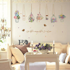 Potted Flower Pot Removable Wall Stickers Vinyl Decals Hoom Kitchen Murals Decor