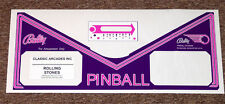 ROLLING STONES Pinball Machine Apron Decal Set