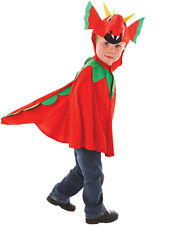 Child Friendly Red Dragon Costume Welsh Fancy Dress Mascot Kids Outfit Age 3-7