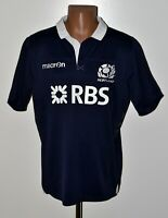 SCOTLAND NATIONAL TEAM RUGBY UNION SHIRT JERSEY MACRON SIZE L ADULT