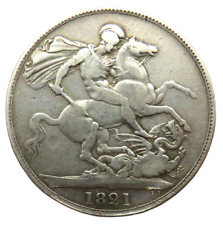 More details for 1821 king george iv silver secundo crown coin - great britain
