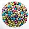 50/100PCS Mixed Acrylic Metallic Sparkly Glitter Beads 6/8mm Jewellery Making