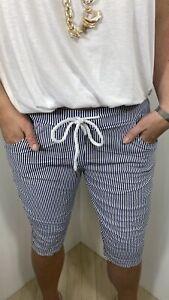 Shorts Magic Shorts Super Stretch Nautical Long Capri's Cropped Fits 10-14 Long