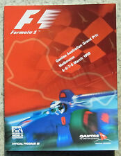AUSTRALIAN GRAND PRIX 1998 Melbourne FORMULA ONE F1 Official Programme