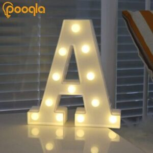 LED Marquee Letter Lights Sign for Home Party Wedding Decoration  A, White