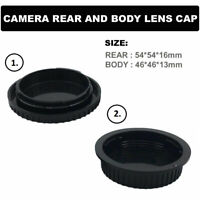 Camera Rear and Body Lens Cap Canon EF EF-S EOS Lens DSLR/SLR Cap Set- Black UK