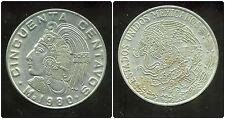 MEXIQUE  50 centavos 1980