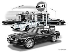 TRANS AM 76,77,78,79 MUSCLE CAR ART PRINT  #6501   **FREE USA SHIPPING**
