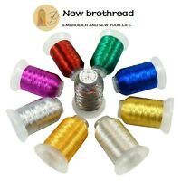 New brothread 9 Colours Metallic Embroidery Machine Thread Kit 500M (550Y) Each