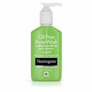 Neutrogena Oil-Free Acne and Redness Facial Cleanser, Soothing Face Wash...