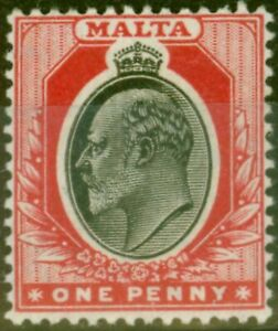 Malta 1905 1d Black & Red SG48 Fine Very Lightly Mtd Mint