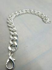 Chain Bracelet Unique Men's Heavy Silver coloured link Jewelry cheap .. . . .