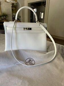 Hermes Kelly Epsom 35 White