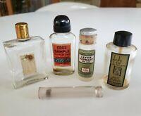 5 Vtg Advertising Bottle Miniature Bottles LadyLillian Jergens Lilly Chamberlain