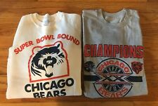 Vintage 1985 CHICAGO BEARS Roster Sweatshirt SUPERBOWL Bound &Champions T Shirt