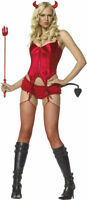 Morris Costumes Women's Sexy Devil 4 Piece Halloween Costume M/L. UA53017ML