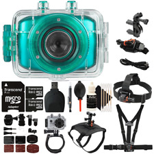 Vivitar DVR781HD HD Waterproof Action Video Camera Teal with Accessory Kit