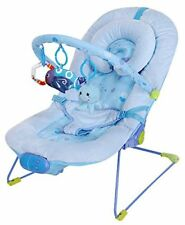 Luxury Soft Baby Bouncer Vibrating and Musical Bouncy Chair – Blue Fish